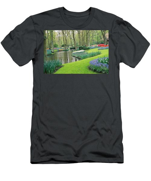 Keukenhof Gardens Men's T-Shirt (Athletic Fit)