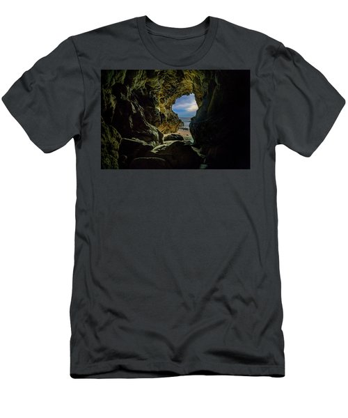 Keyhole Cave In Malibu Men's T-Shirt (Athletic Fit)
