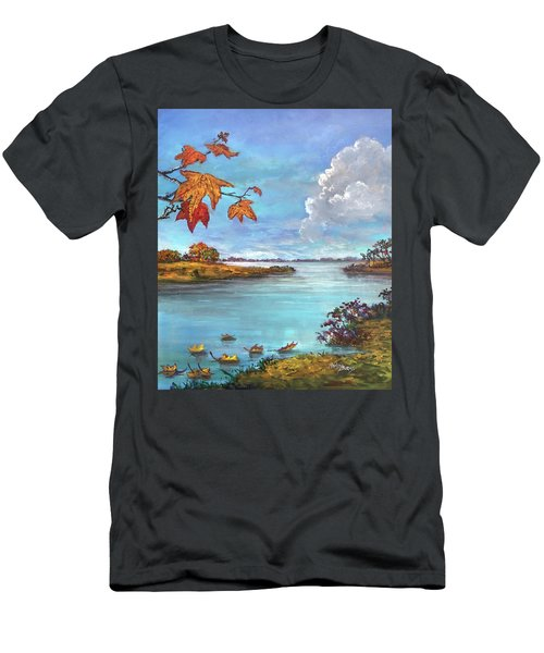 Kites, Clouds And Sailboats Men's T-Shirt (Athletic Fit)