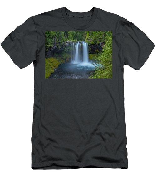 Men's T-Shirt (Athletic Fit) featuring the photograph Koosah Falls, Summer by Matthew Irvin