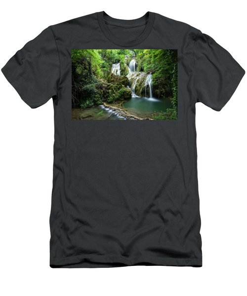 Krushunski Waterfalls Men's T-Shirt (Athletic Fit)