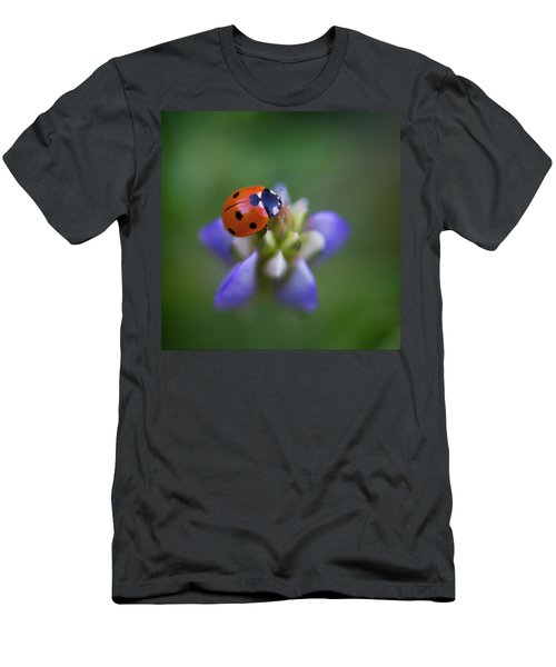 Men's T-Shirt (Athletic Fit) featuring the photograph Lady Bug by John Rodrigues
