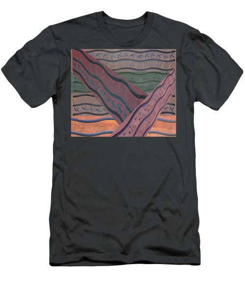 Men's T-Shirt (Athletic Fit) featuring the photograph Lake Pat Sign Collage by Joan Stratton