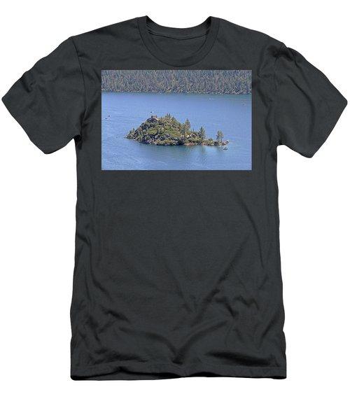 Lake Tahoe - Fannette Island Men's T-Shirt (Athletic Fit)