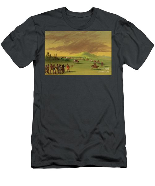 Lasalle Meets On The Prairie Of Texas, A War Party Of Cenis Indians, April 25th, 1686. Men's T-Shirt (Athletic Fit)