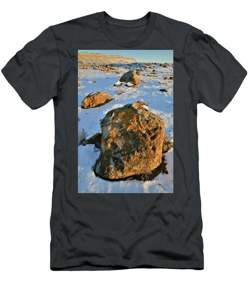 Last Light Of The Day In The Book Cliffs Men's T-Shirt (Athletic Fit)