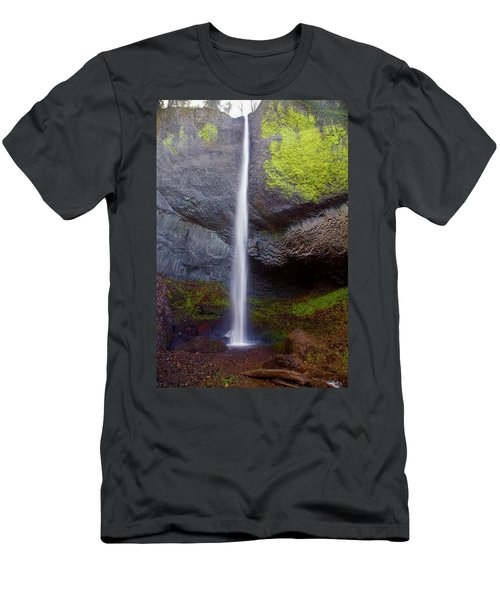 Latourell Falls Men's T-Shirt (Athletic Fit)