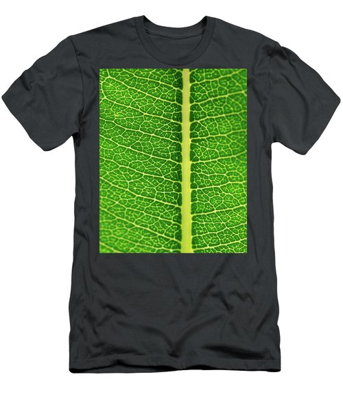 Men's T-Shirt (Athletic Fit) featuring the photograph Leaf Veins by Jeff Phillippi