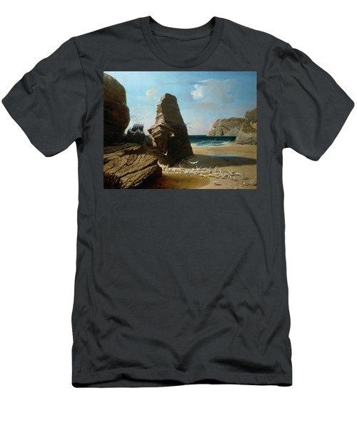 Les Petites Mouettes, Small Seagulls Men's T-Shirt (Athletic Fit)