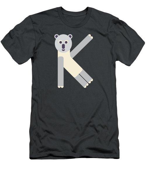 Letter K - Animal Alphabet - Koala Monogram Men's T-Shirt (Athletic Fit)