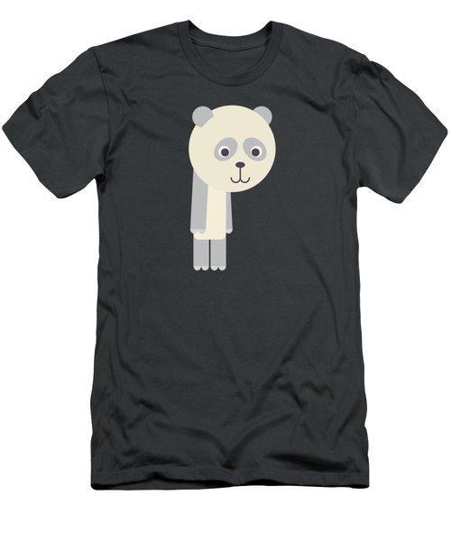 Letter P - Animal Alphabet - Panda Monogram Men's T-Shirt (Athletic Fit)