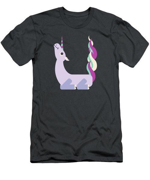 Letter U - Animal Alphabet - Unicorn Monogram Men's T-Shirt (Athletic Fit)