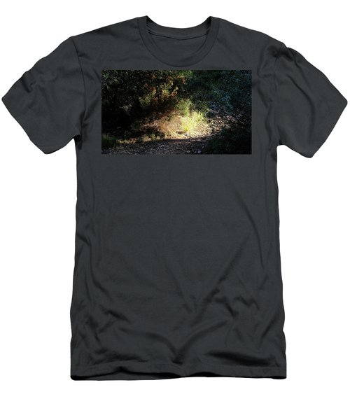 Men's T-Shirt (Athletic Fit) featuring the photograph Light On The Tracks by August Timmermans