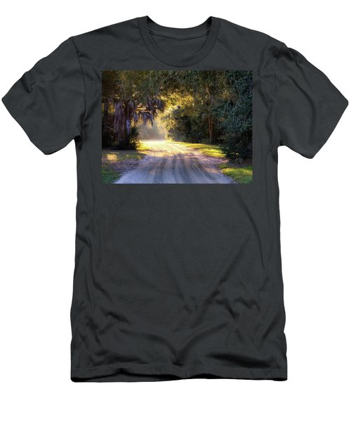 Light, Shadows And An Old Dirt Road Men's T-Shirt (Athletic Fit)