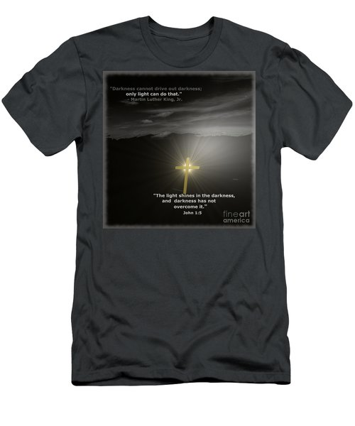 Light Shines In The Darkness Men's T-Shirt (Athletic Fit)