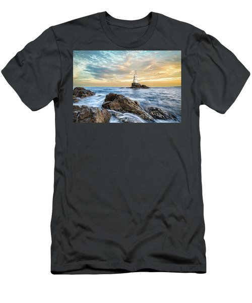 Lighthouse In Ahtopol, Bulgaria Men's T-Shirt (Athletic Fit)