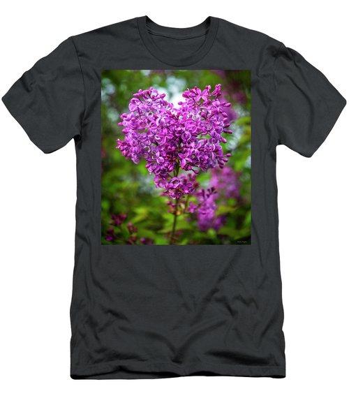 Lilac Heart Men's T-Shirt (Athletic Fit)