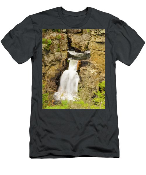Linville Falls - Closeup Men's T-Shirt (Athletic Fit)