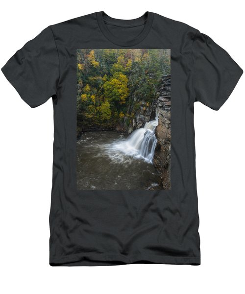 Linville Falls Men's T-Shirt (Athletic Fit)