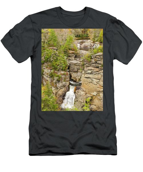 Linville Falls - Vertical Men's T-Shirt (Athletic Fit)