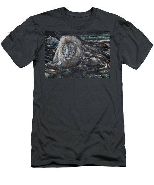 Lion In Dappled Shade Men's T-Shirt (Athletic Fit)