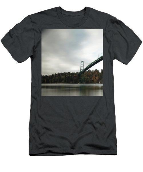 Lions Gate Bridge Vancouver Men's T-Shirt (Athletic Fit)
