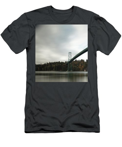 Lions Gate Bridge Vancouver Men's T-Shirt (Athletic Fit)