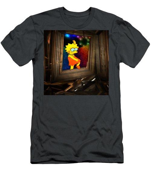 Lisa Steps Out Men's T-Shirt (Athletic Fit)
