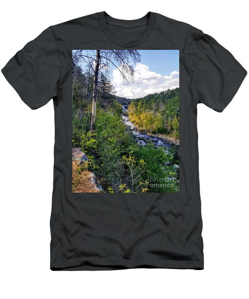 Men's T-Shirt (Athletic Fit) featuring the photograph Little River Canyon Alabama by Rachel Hannah