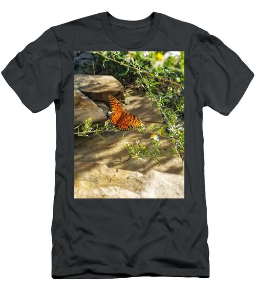 Men's T-Shirt (Athletic Fit) featuring the photograph Little River Canyon Butterfly  by Rachel Hannah