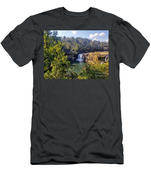 Men's T-Shirt (Athletic Fit) featuring the photograph Little River Canyon Falls Alabama by Rachel Hannah