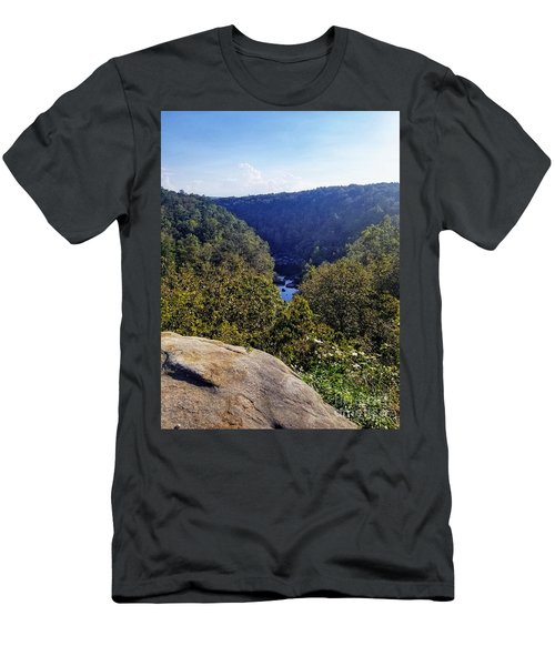 Men's T-Shirt (Athletic Fit) featuring the photograph Little River Canyon Overlook Alabama by Rachel Hannah