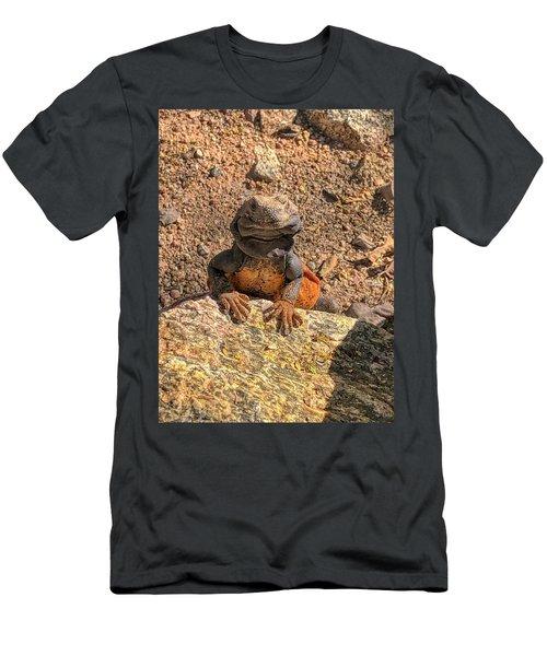 Lizard Portrait  Men's T-Shirt (Athletic Fit)