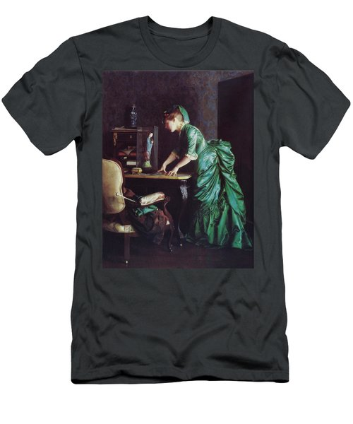 Lizzy Young In Green Men's T-Shirt (Athletic Fit)