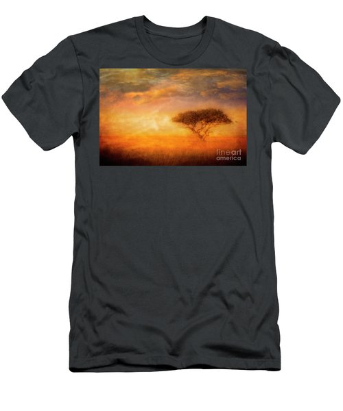 Men's T-Shirt (Athletic Fit) featuring the photograph Lone Acacia by Scott Kemper
