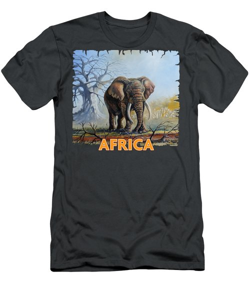 Lone Elephant Browsing Men's T-Shirt (Athletic Fit)