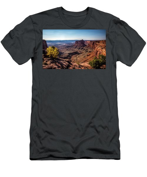 Men's T-Shirt (Athletic Fit) featuring the photograph Lonely Butte by David Morefield