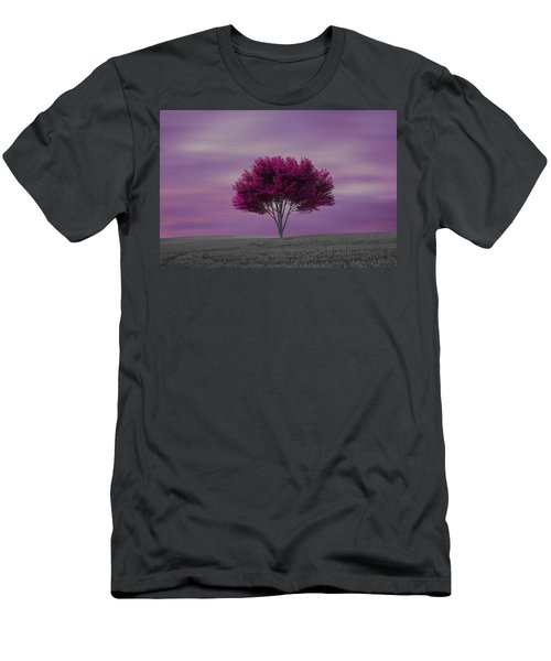 Lonely Tree At Purple Sunset Men's T-Shirt (Athletic Fit)