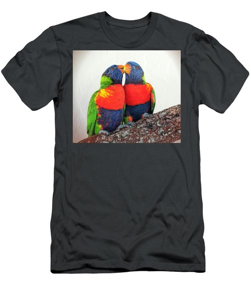 Lorikeet Lovebirds Men's T-Shirt (Athletic Fit)