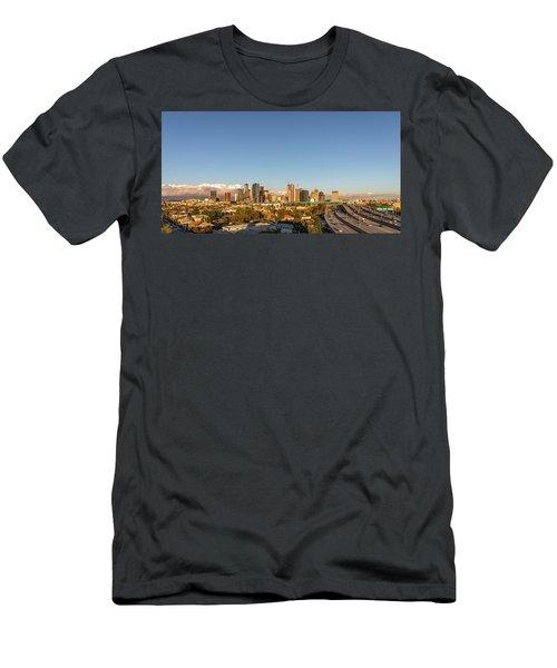 Los Angeles Skyline Looking East Panorama 2.9.19 Men's T-Shirt (Athletic Fit)