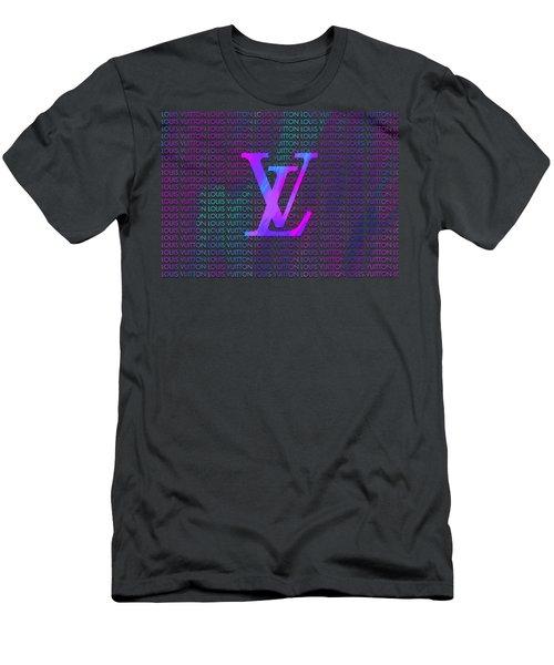 Louis Vuitton Paint Design Men's T-Shirt (Athletic Fit)