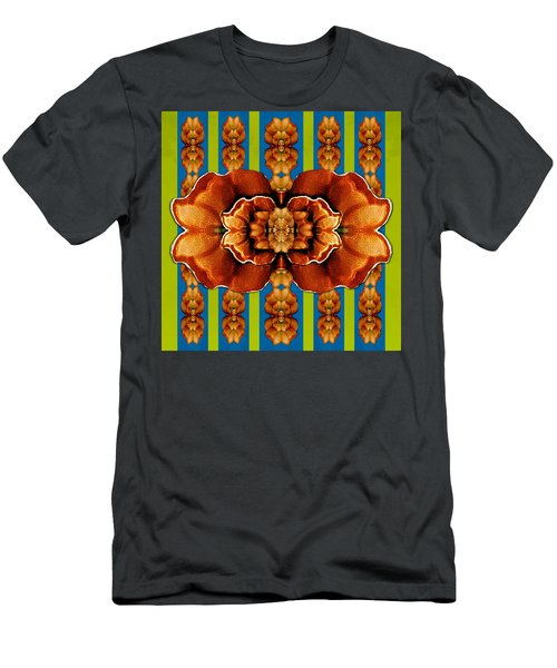 Love For The Fantasy Flowers With Happy Joy Men's T-Shirt (Athletic Fit)