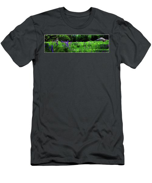 Men's T-Shirt (Athletic Fit) featuring the photograph Lupine Panorama by Wayne King