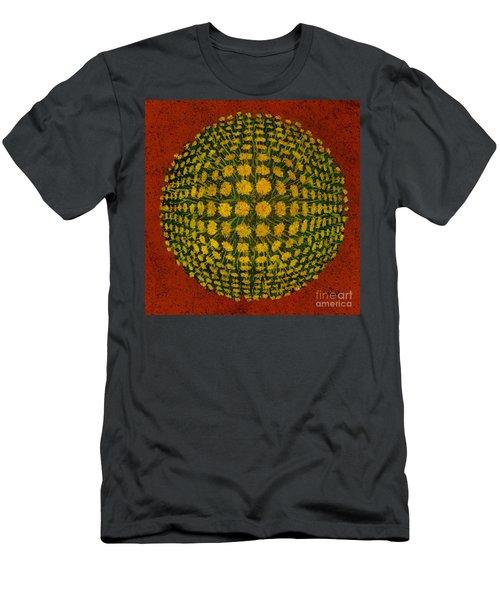 M U M - Bulge Dots On Red Men's T-Shirt (Athletic Fit)