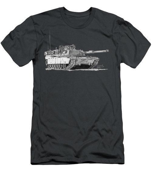 M1a1 A Company Commander Tank Men's T-Shirt (Athletic Fit)