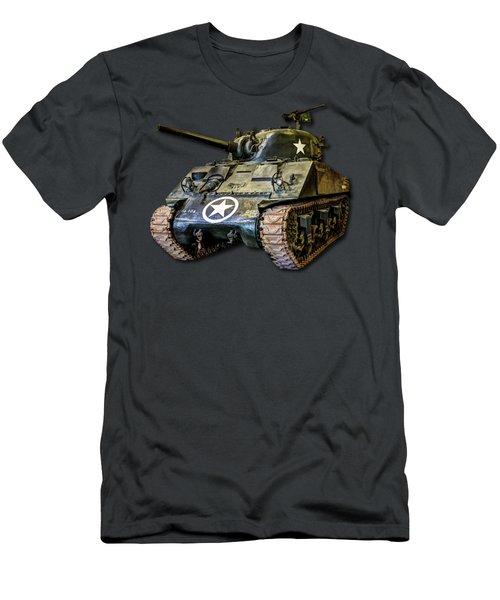 M4 Sherman Map Men's T-Shirt (Athletic Fit)
