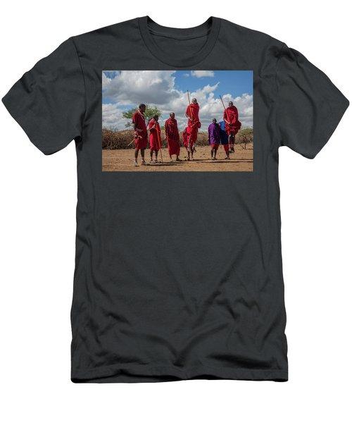 Maasai Adumu Men's T-Shirt (Athletic Fit)