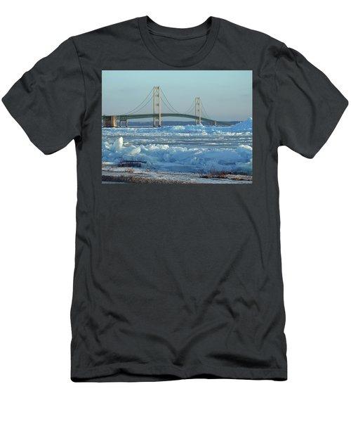 Mackinac Bridge In Ice 2161801 Men's T-Shirt (Athletic Fit)