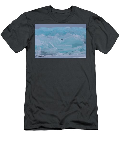 Mackinaw City Ice Formations 21618010 Men's T-Shirt (Athletic Fit)