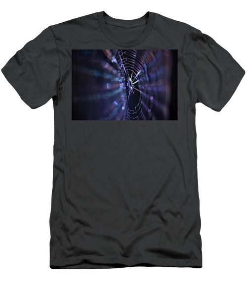 Macro Of A Spiders Web Captured At Night. Men's T-Shirt (Athletic Fit)